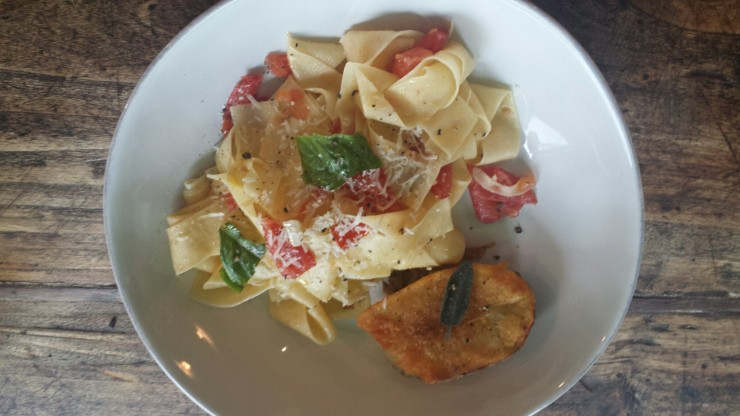 papardelle with fresh tomato sauce